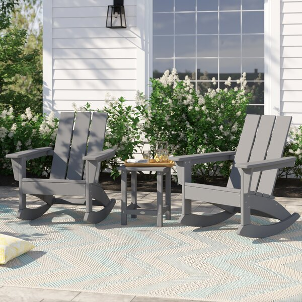 Polywood Traditional 3 Piece Seating Group by Sol 72 Outdoor