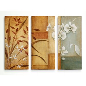 'Orchid Elegance I' Acrylic Painting Print Multi-Piece Image on Wrapped Canvas by Red Barrel Studio