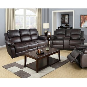 Mayday 2 Piece Leather Living Room Set  sc 1 st  Wayfair & Reclining Living Room Sets Youu0027ll Love islam-shia.org