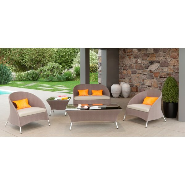Corriveau 5 Piece Sofa Seating Group with Cushion by Brayden Studio