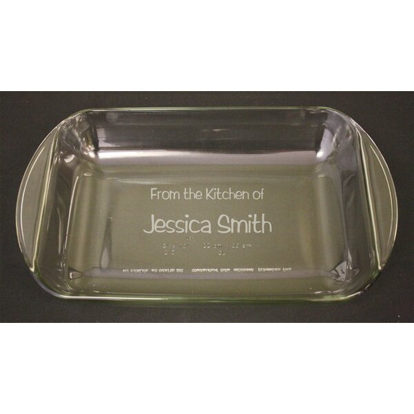 Personalized Rectangle Baking Dish by Signature Keepsakes