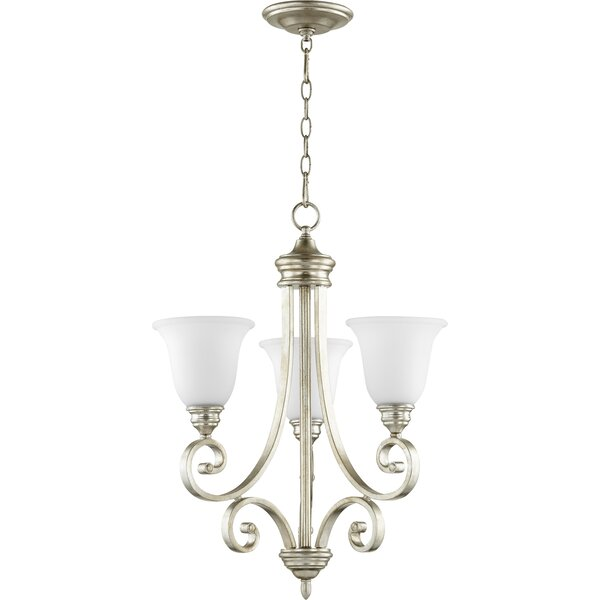 Asheville 3-Light Shaded Chandelier by Andover Mills