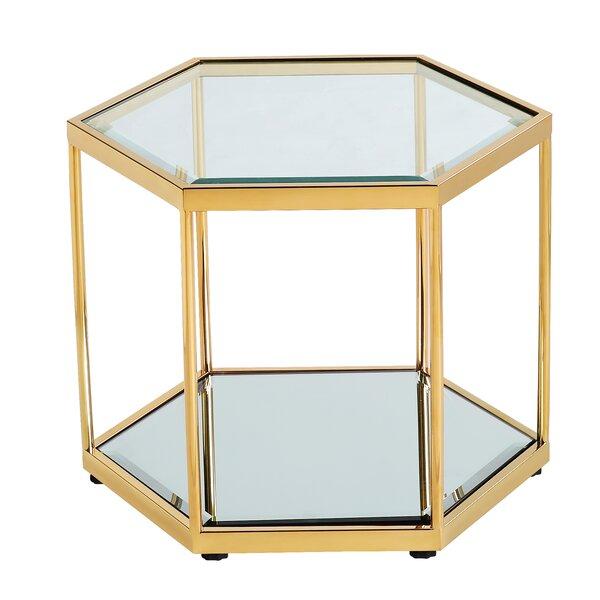 Mayson Floor Shelf End Table by Mercer41 Mercer41