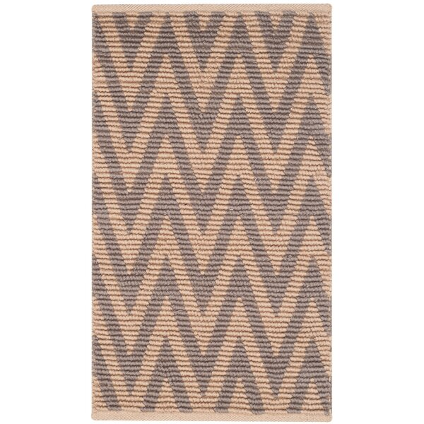 Arria Hand-Woven Natural/Gray Area Rug by Highland Dunes
