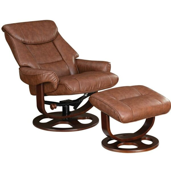 Crossover Recliner with Ottoman [Red Barrel Studio]
