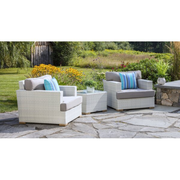 Mykonos 3 Piece 2 Person Seating Group with Cushions by Madbury Road