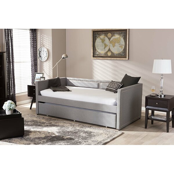 Florentine Nail Heads Trimmed Twin Daybed With Trundle By Red Barrel Studio