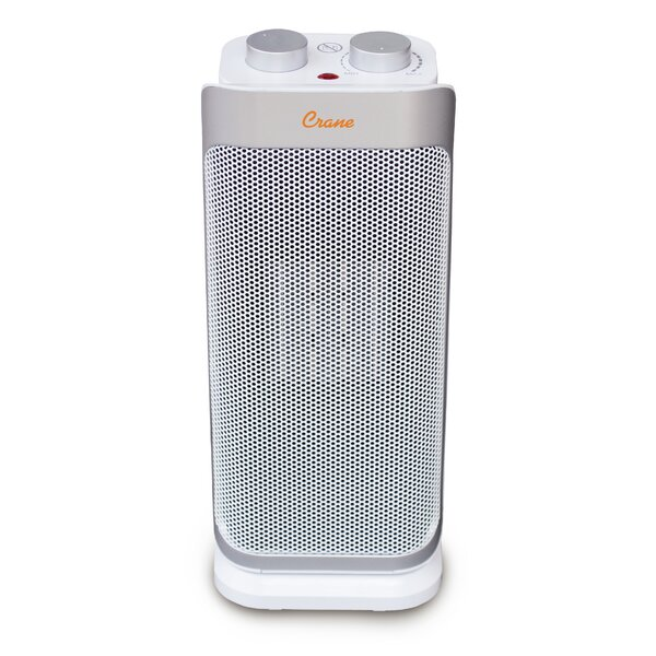 Personal Ceramic Oscillating 1500 Watt Electric Fan Heater By Crane USA