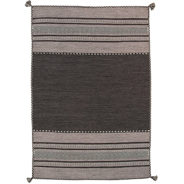 Kilim Hand-Woven Gray Area Rug by Pasargad
