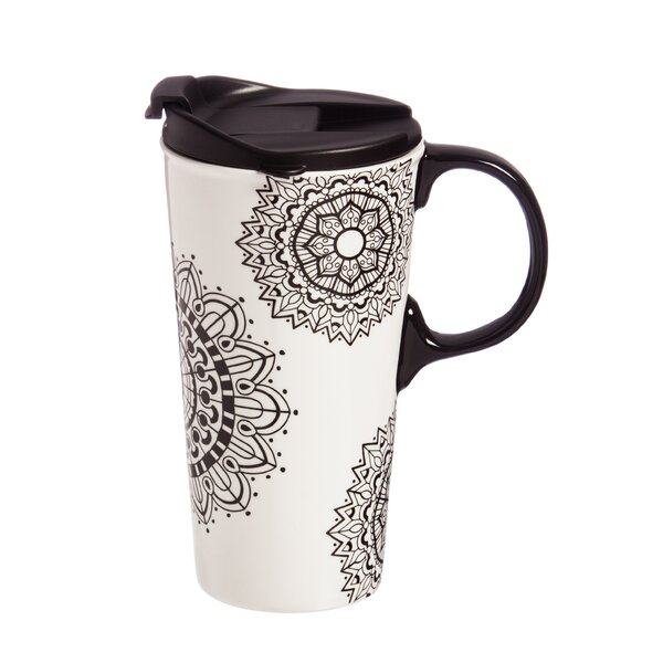 Carsten Mandala Mania Travel Mug by Red Barrel Stu