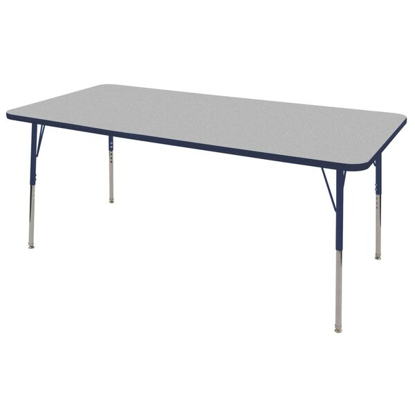 Thermo-Fused Adjustable 72 x 36 Rectangular Activity Table by ECR4kids