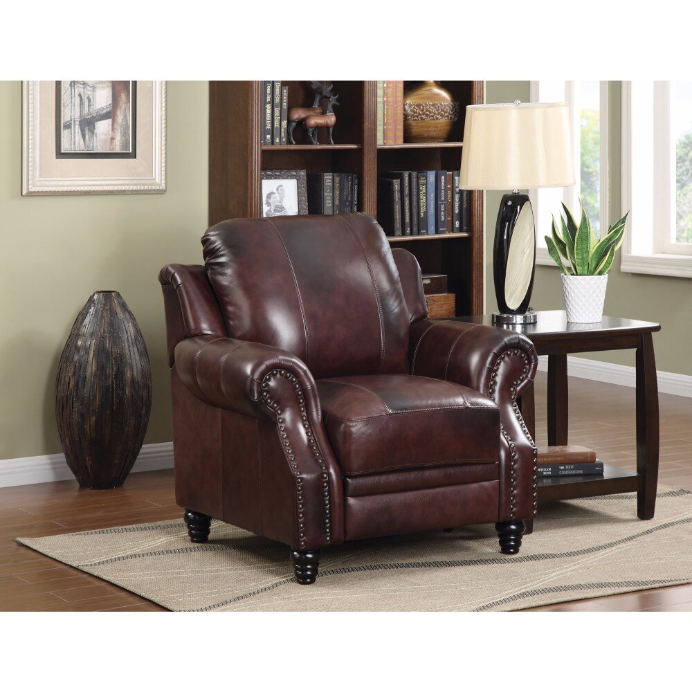Leather Manual Push Back Recliners You Ll Love In 2021 Wayfair