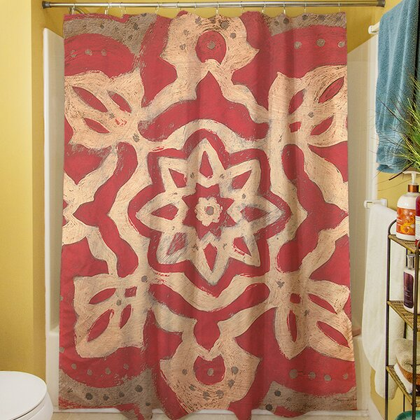 Golden Medallion Shower Curtain by Manual Woodworkers & Weavers