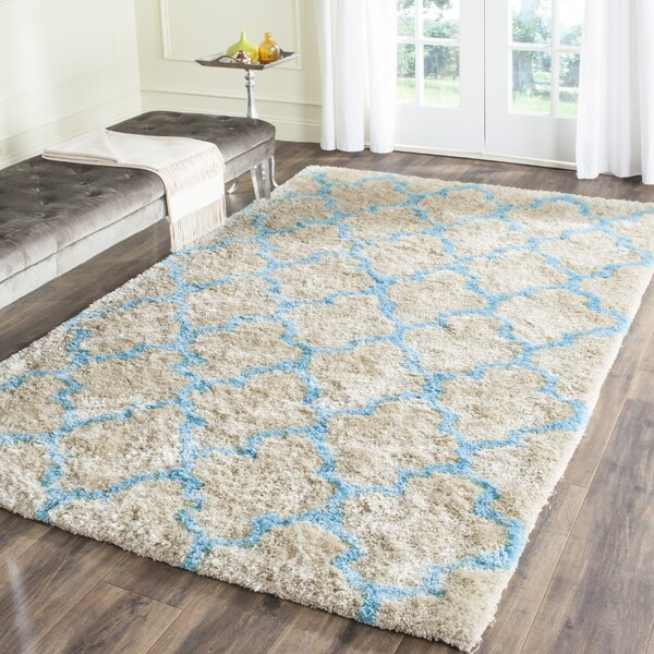 Barcelona Cream/Blue Area Rug by Safavieh
