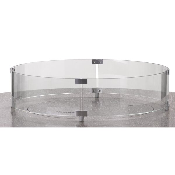 Round Glass Surround Fire Pit Table by Telescope Casual Telescope Casual