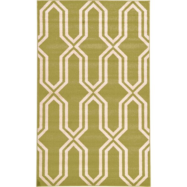 Marika Light Green Area Rug by Bloomsbury Market