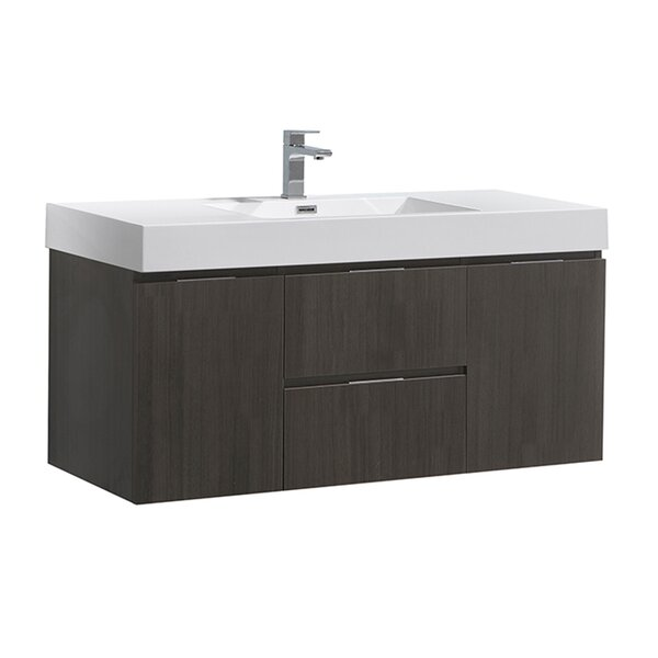 Senza Valencia 48 Wall Mounted Single Bathroom Vanity Set by Fresca