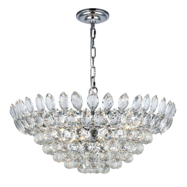 Colusa 11-Light Crystal Chandelier by Rosdorf Park