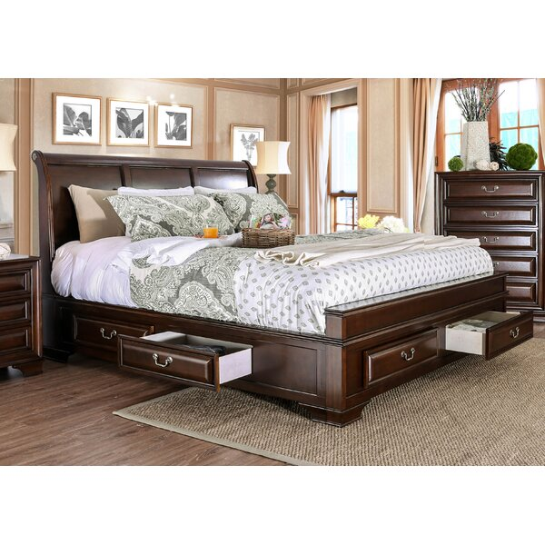 Perera Storage Sleigh Bed by Charlton Home