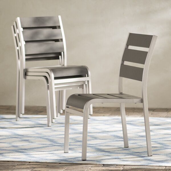 Galicia Stacking Patio Dining Chair (Set of 4) by Brayden Studio