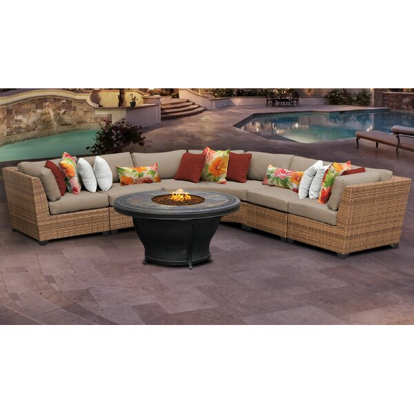 Waterbury 5 Piece Sectional Seating Group with Cushions by Sol 72 Outdoor Sol 72 Outdoor