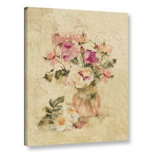 'Rose Panel I' Painting Print on Wrapped Canvas by Lark Manor