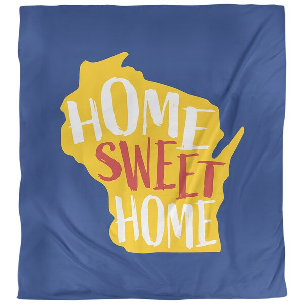 Home Sweet Wisconsin Single Reversible Duvet Cover