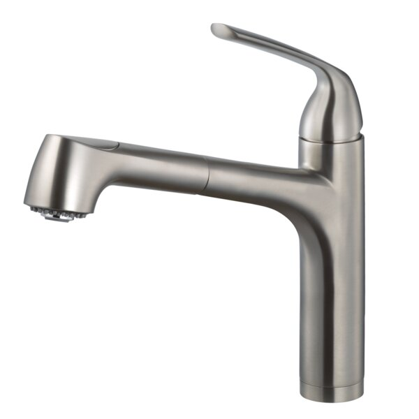 Calia Pull Out Single Handle Kitchen Faucet by Houzer
