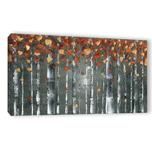Copper Birch Graphic Art on Wrapped Canvas by Latitude Run
