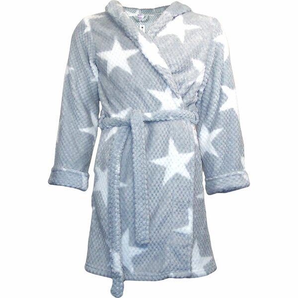 Star Flannel Fleece Bathrobe by BOON Throw & Blank