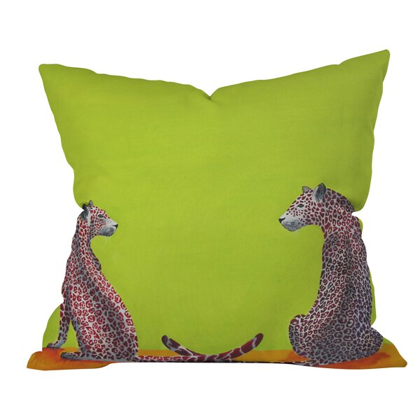 Clara Nilles Leopard Lovers Throw Pillow by Deny Designs