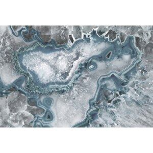 'Icy Layers' Graphic Art Print on Canvas by Marmont Hill