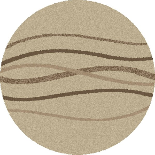 Shaggy Waves Natural Area Rug by Threadbind