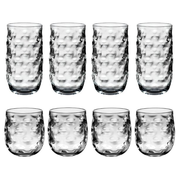 Sunnydale 8-Piece Acrylic Assorted Glassware Set by Bay Isle Home