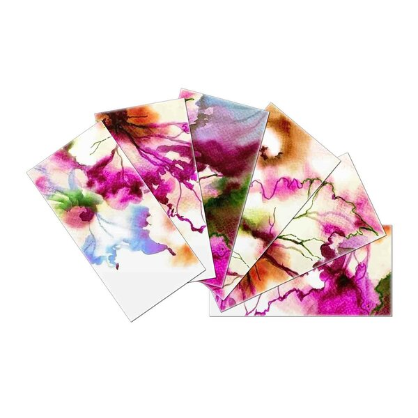 Crystal Skin 3 x 6 Glass Subway Tile in Violet/Brown by SkinnyTile