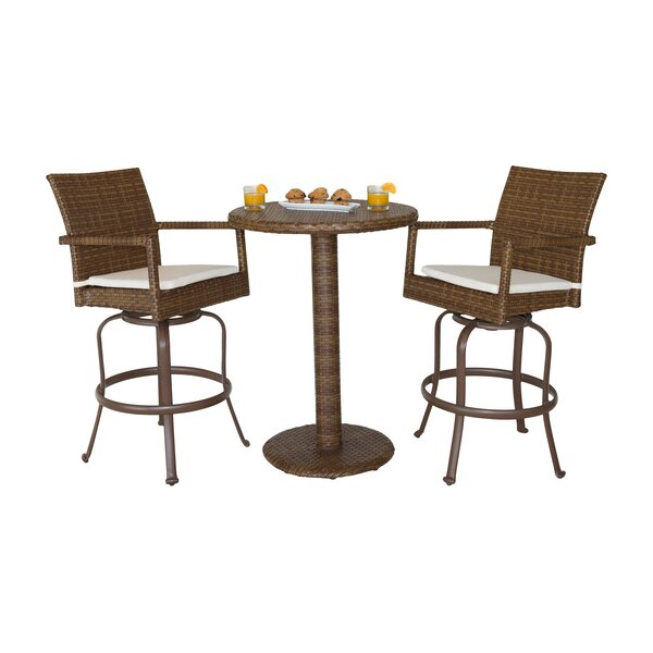 St. Barths 3 Piece Bar Height Dining Set by Panama Jack Outdoor