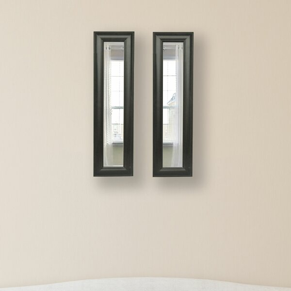 2 Piece Kincannon Brazilian Panels Mirror Set by Charlton Home
