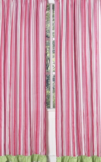 Olivia Striped Semi-Sheer Rod Pocket Single Curtain Panel (Set of 2) by Sweet Jojo Designs