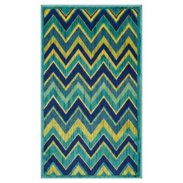Nanava Blue/Green Area Rug by Ebern Designs
