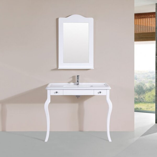 Buswell Traditional ADA 41 Single Bathroom Vanity Set with Mirror by Alcott Hill