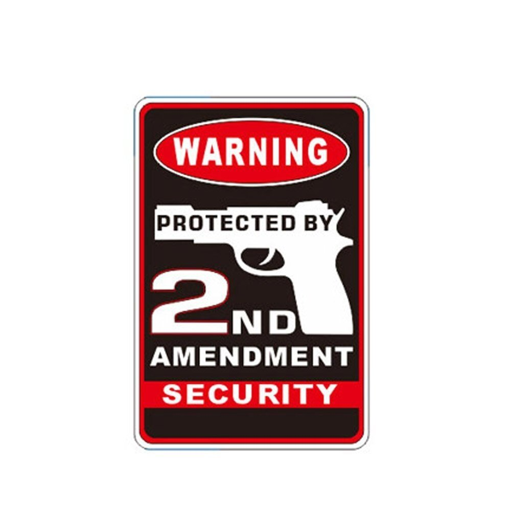 Protected by the 2nd Amendment Stainless Sign Man Cave Warning Gun home Security