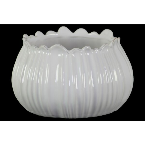 Han Round Shaped Ceramic Bellied Decorative Bowl by Highland Dunes