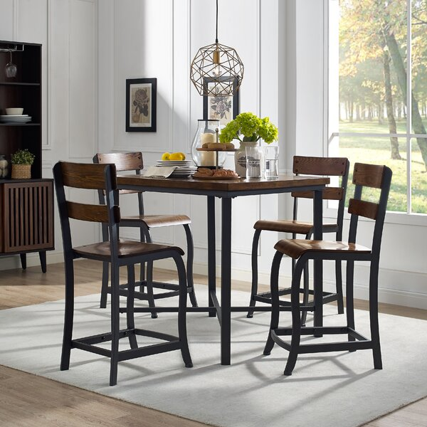 Yaretzi 5 Piece Counter Height Dining Set By Union Rustic