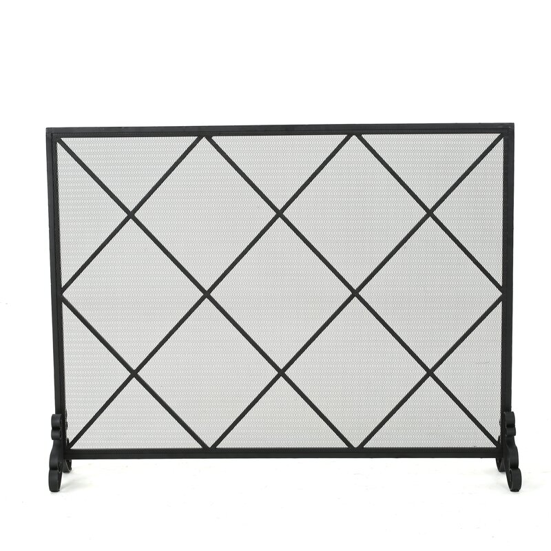 black iron fireplace screen. Leyba Single Panel Iron Fireplace Screen Home Loft Concepts