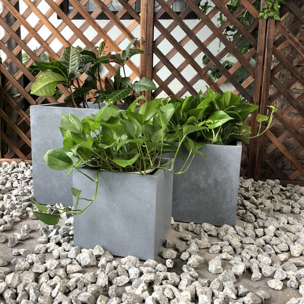 Garland Smooth Square 3-Piece Planter Box Set by Williston Forge