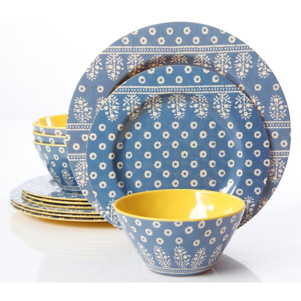 Bryana Melamine 12 Piece Dinnerware Set, Service for 4 by Latitude Run
