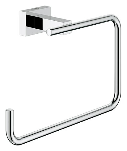 Essentials Wall Mounted Cube Towel Ring by Grohe