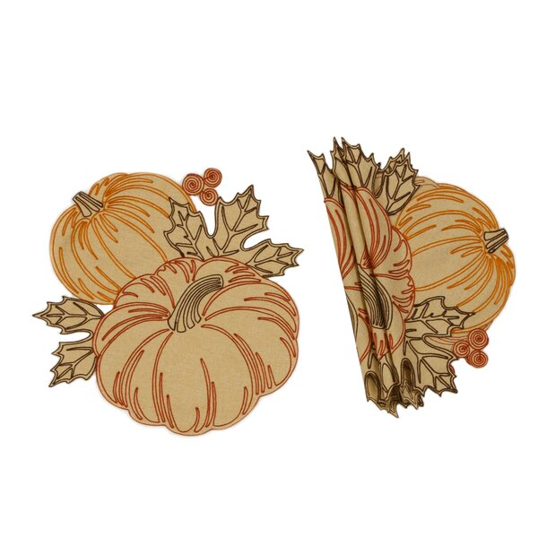 Schwartz Pumpkin Party 16 Placemat (Set of 4) by August Grove