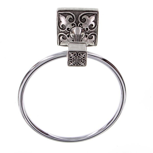 Fleur de Lis Wall Mounted Towel Ring by Vicenza Designs