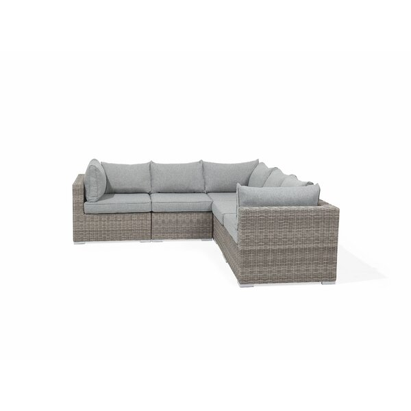 Epworth Outdoor 7 Piece Rattan Sectional Seating Group with Cushions (Set of 7) by Orren Ellis